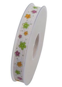 Bellissimo floral ribbon in white (x2)