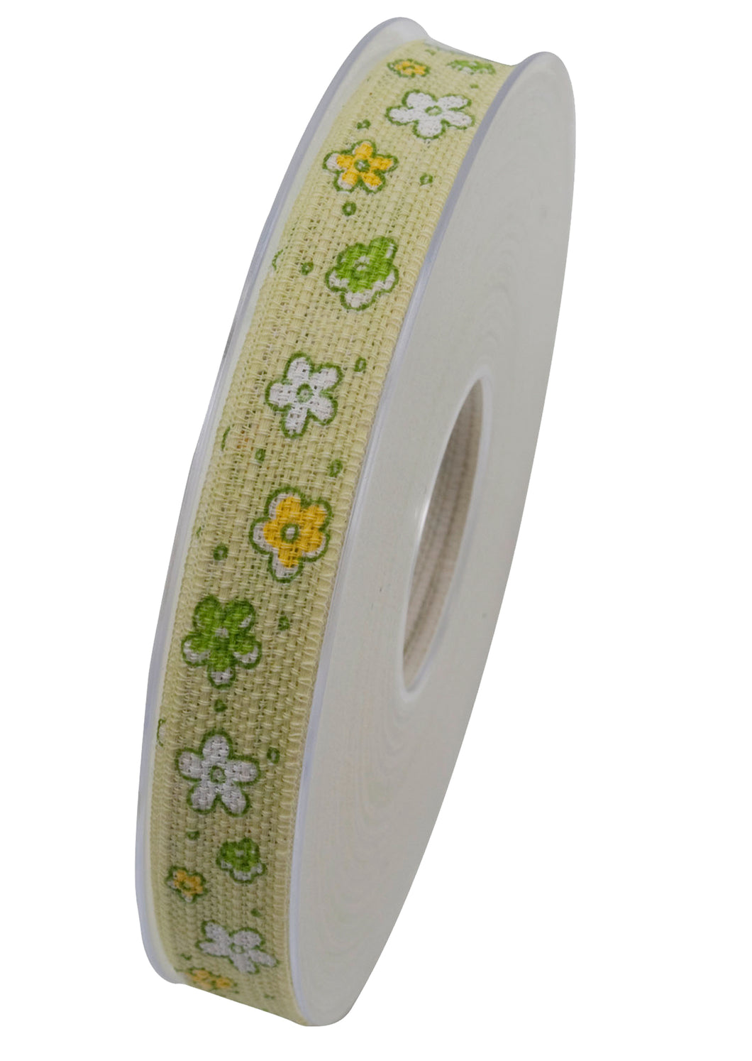 Bellissimo floral ribbon in green (x2)