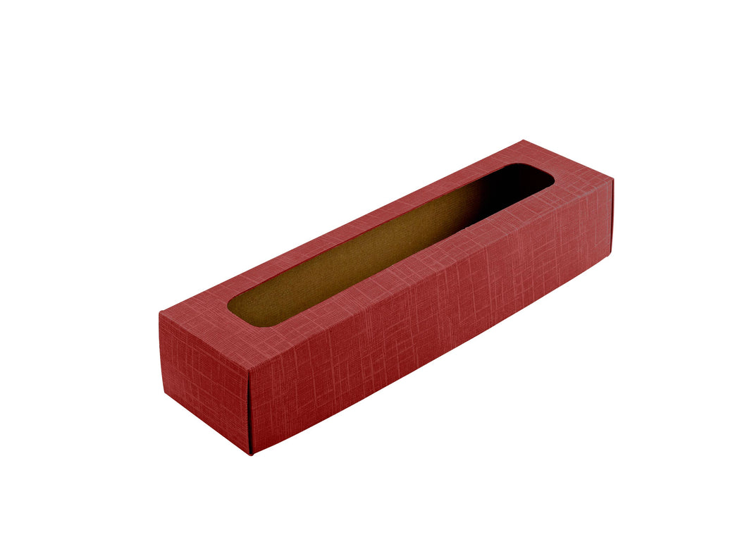 Gift box lid with window for 1 bottle in red (x25)