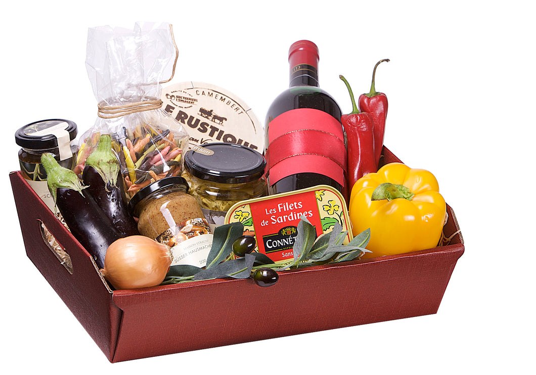 Scala shallow large wine hamper in red (x30)