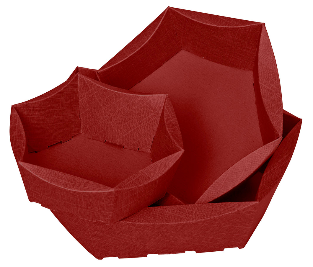 Scala medium hexagonal hamper in red (x25)