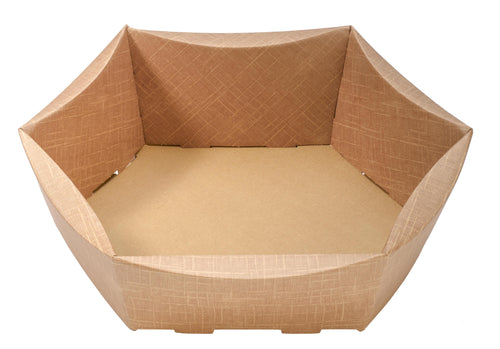 Scala large hexagonal hamper in beige (x25)