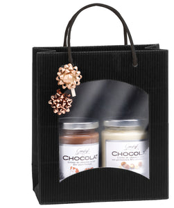 Fluted deli bag with window in black (x25)
