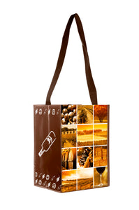 Giovanni long life shopper bag with wine print (x50)