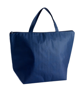 Cooler bag with zipper in blue (x30)