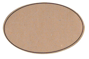 Oval labels in brown (x250)