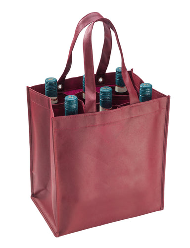 Smartbag for 6 bottles in bordeaux (x40)