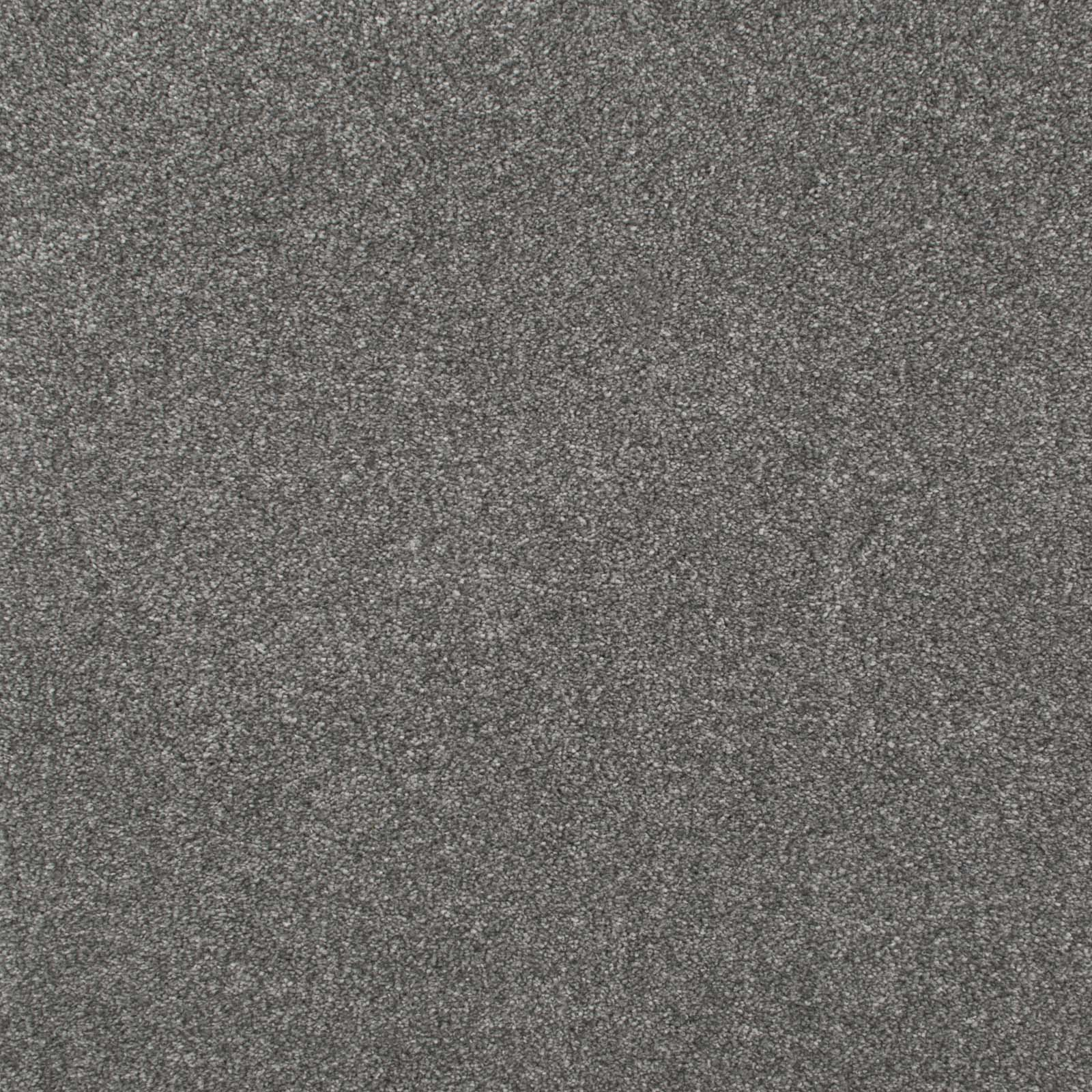 Mid Grey Luxury Saxony Carpet - Far