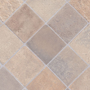 Cottage Stone Beige Grey Authentic 261 Tile Vinyl Flooring - Far
