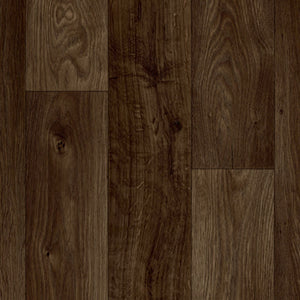Dark Brown Oak Wood Plank Primo Vinyl Flooring - Far