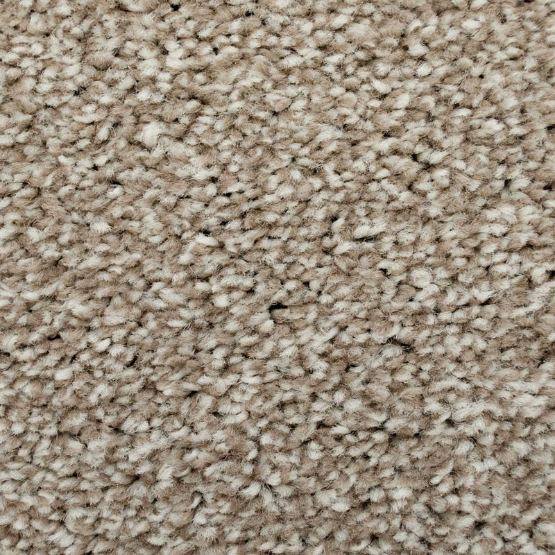 Earthy Beige Supreme Felt Back Saxony Carpet - Close