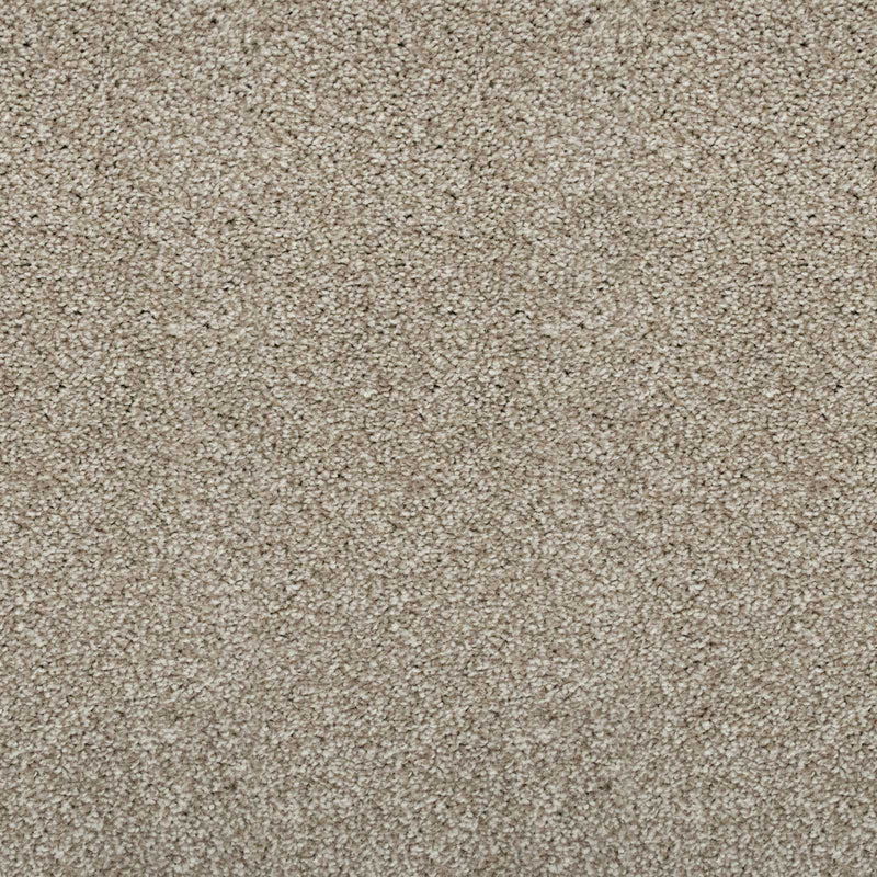 Earthy Beige Supreme Felt Back Saxony Carpet - Far