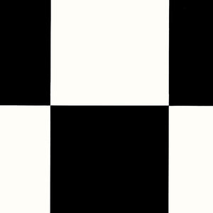 Echiquier Black & White Authentic 261 Tile Vinyl Flooring - Far