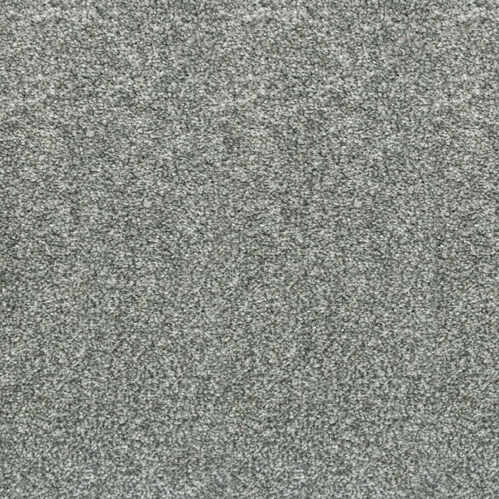 Granite Grey Supreme Felt Back Saxony Carpet - Far