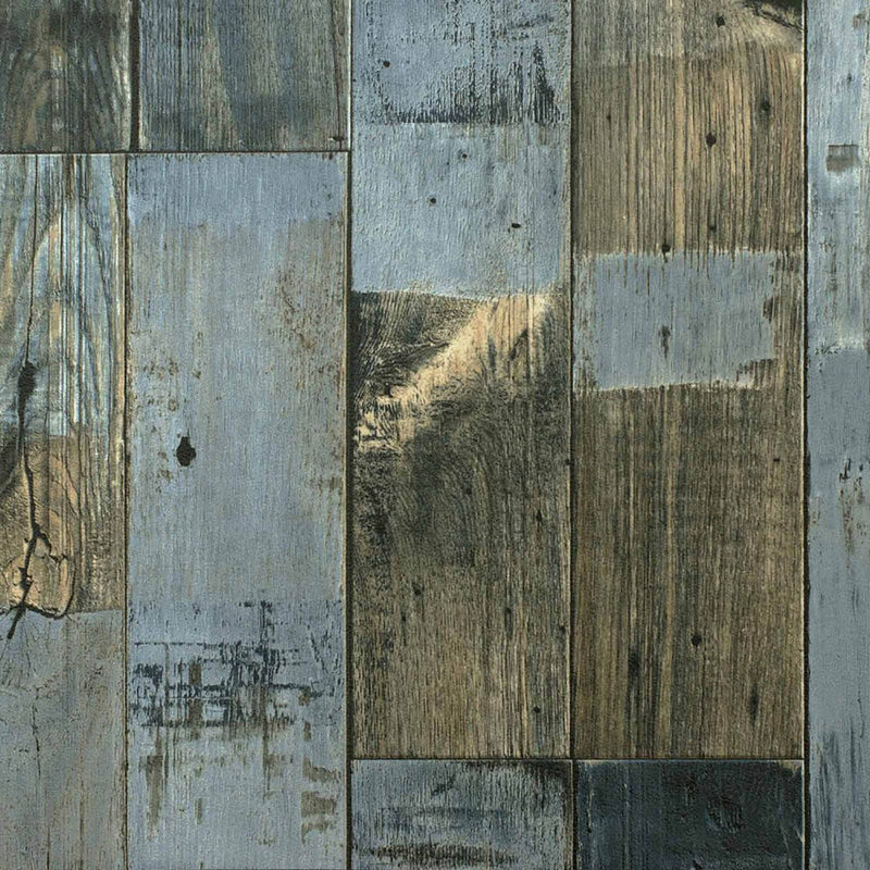 Grey Blue Reclaimed Wood Plank Primo Vinyl Flooring - Far