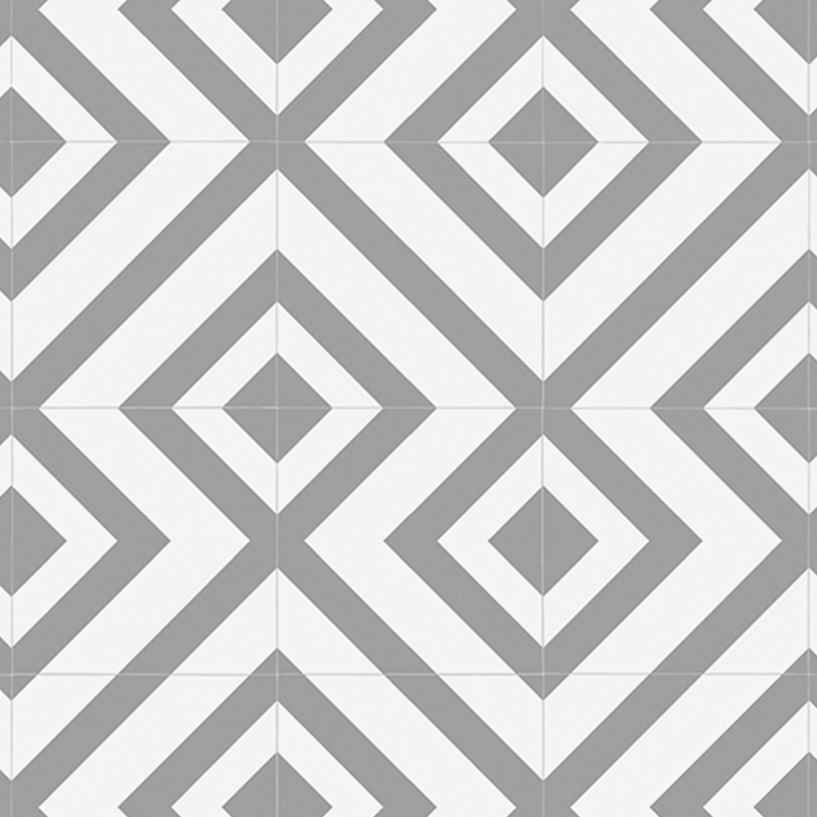 Grey Diamonds Modern Pattern Primo Vinyl Flooring - Far
