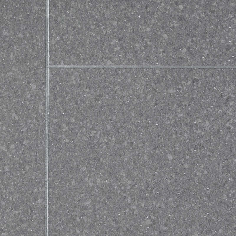 Grey Granite Tile Style Vinyl Flooring - Close