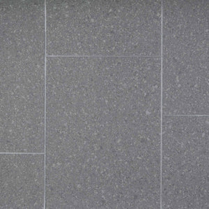 Grey Granite Tile Style Vinyl Flooring - Far