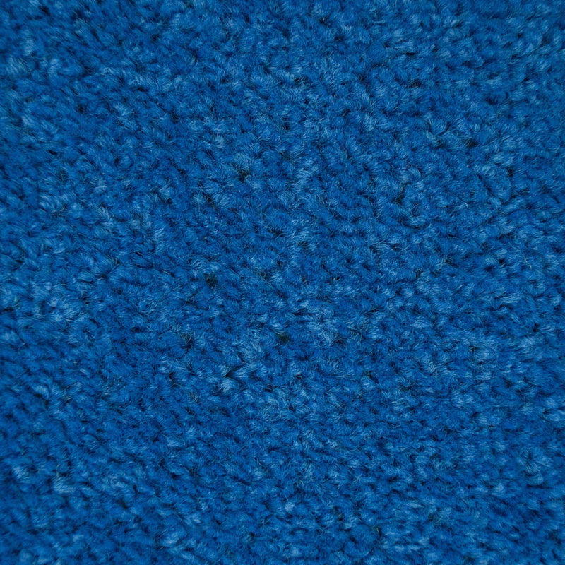 Light Blue Felt Back Twist Carpet - Close