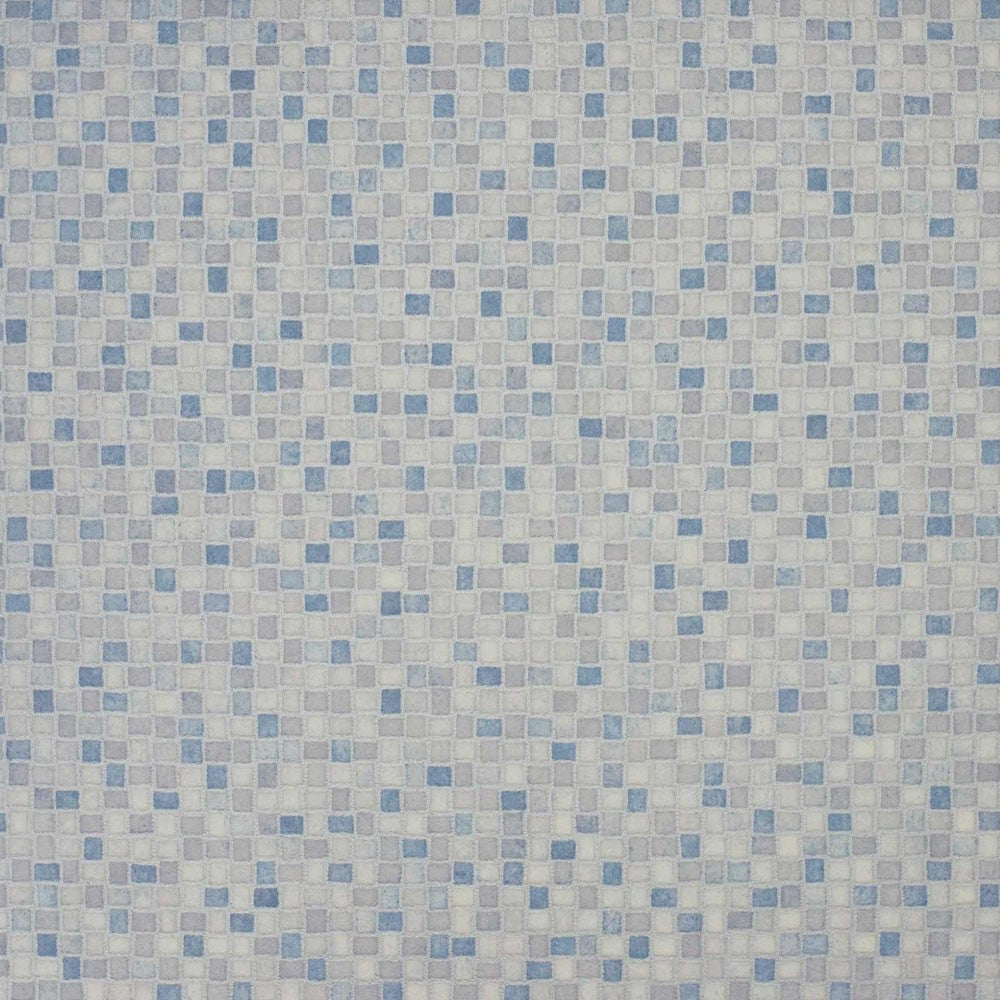 Light Blue Mosaic Tile Primo Vinyl Flooring - Far