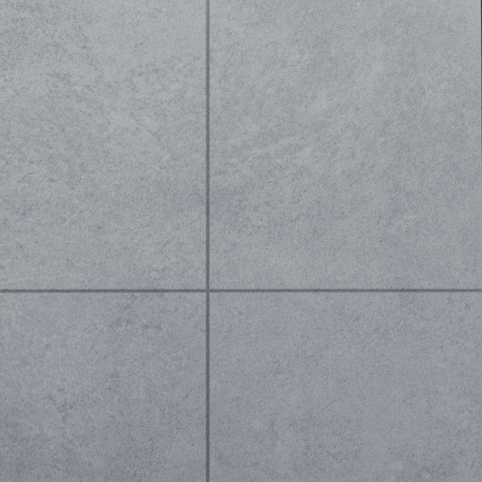 Light Grey Tile Style Vinyl Flooring - Far