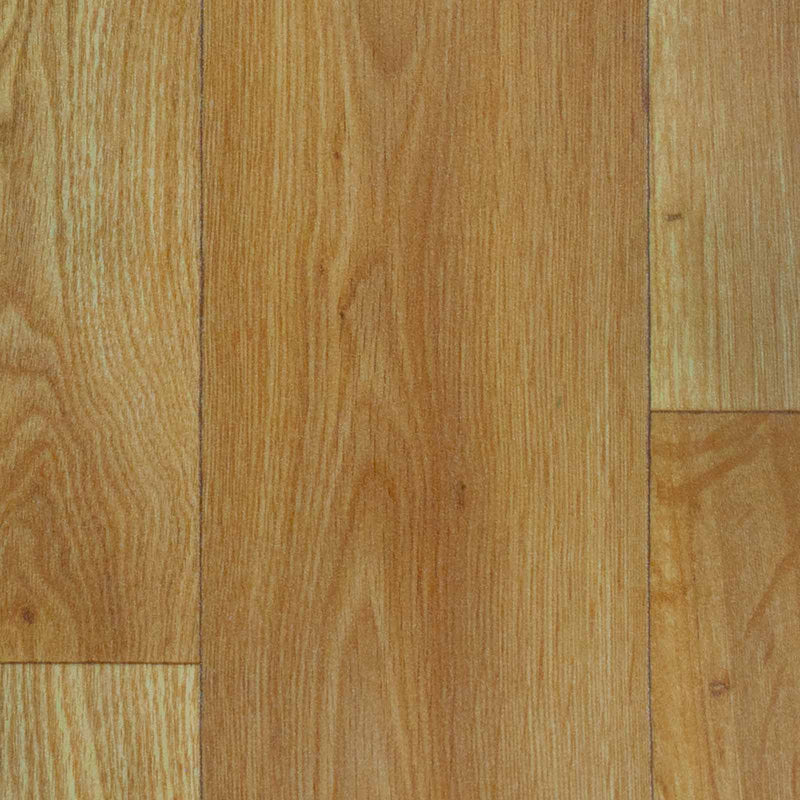 Natural Oak Wood Style Vinyl Flooring - Close
