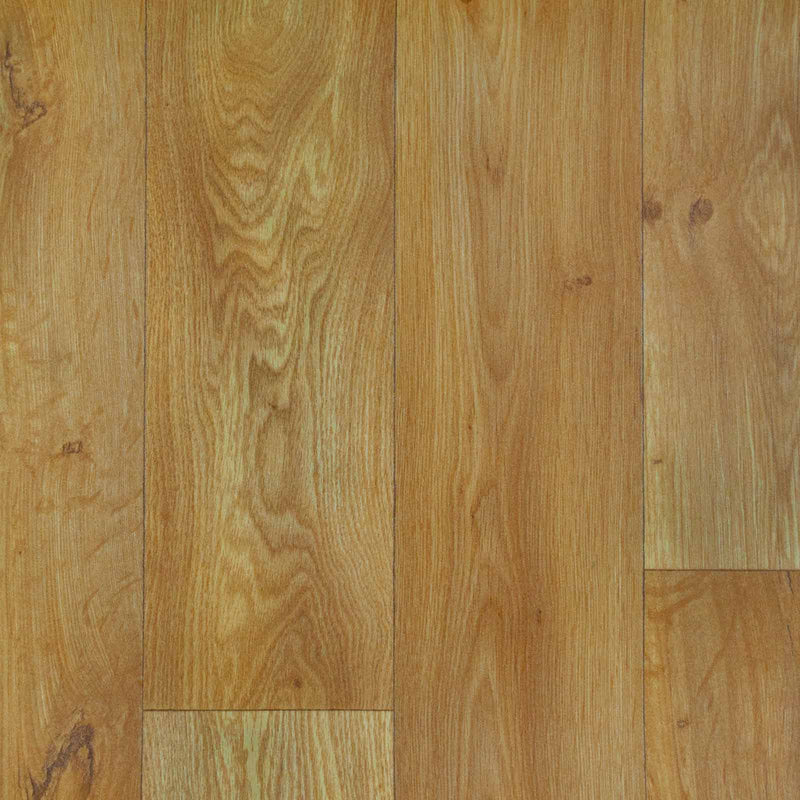 Natural Oak Wood Style Vinyl Flooring - Far