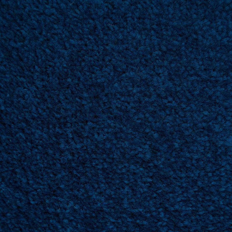 Navy Blue Felt Back Twist Carpet - Close