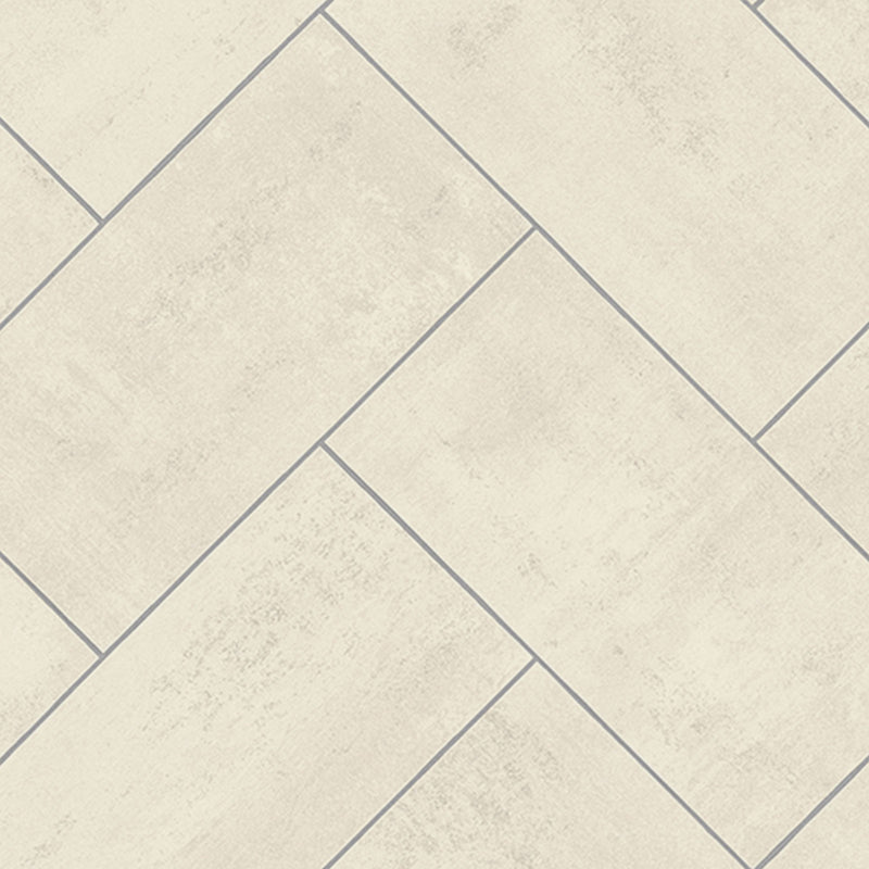 Pale Herringbone Diagonal Tile Primo Vinyl Flooring - Far
