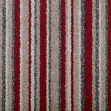 Red & Beige Striped Supreme Felt Back Saxony Carpet - Far