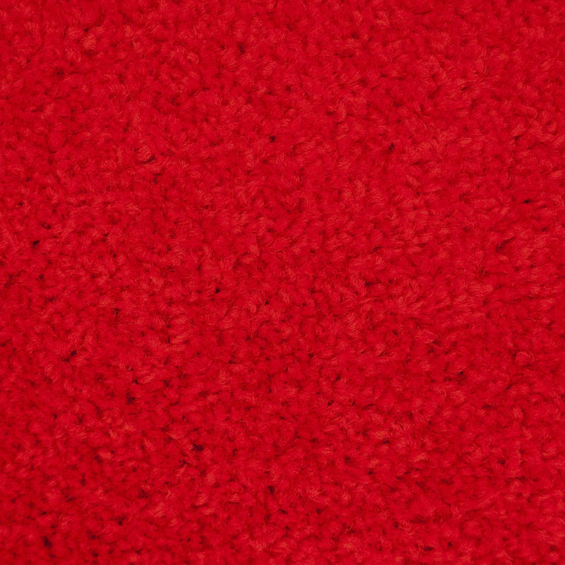 Red Felt Back Twist Carpet - Close