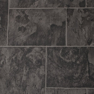Rustic Slate Black Authentic 261 Tile Vinyl Flooring - Far