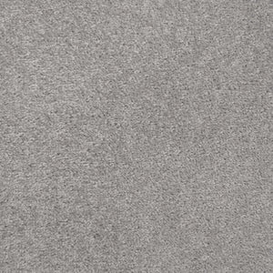 Silver Grey Felt Back Twist Carpet - Far