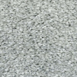 Silver Grey Supreme Felt Back Saxony Carpet - Close