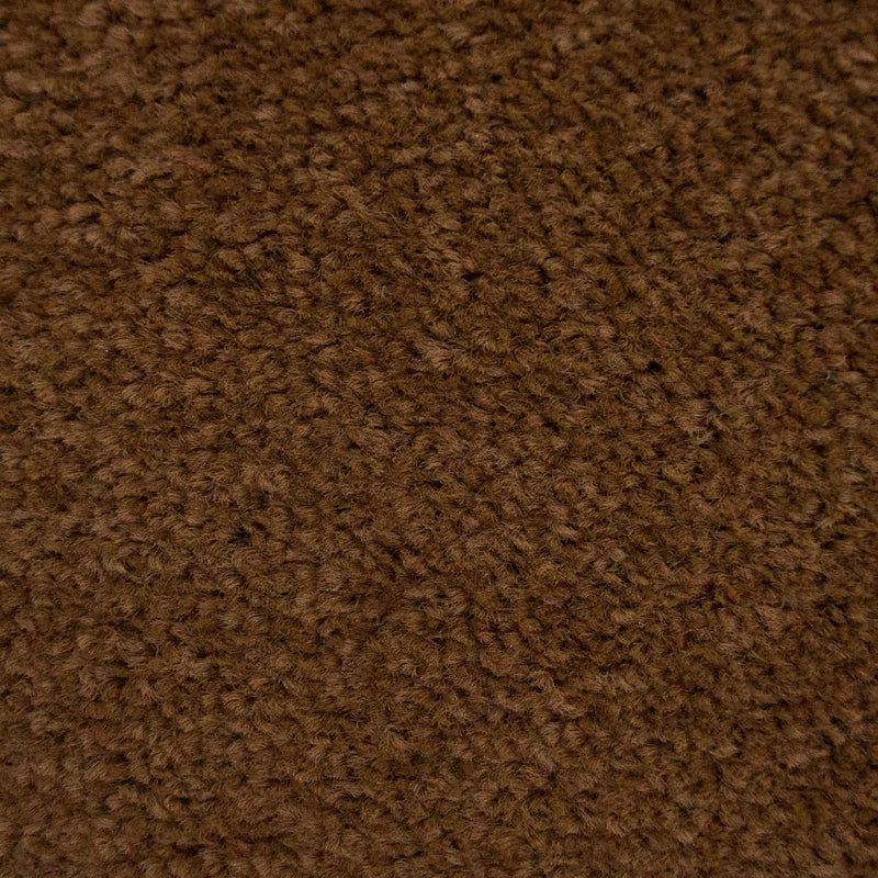 Walnut Brown Felt Back Twist Carpet - Close