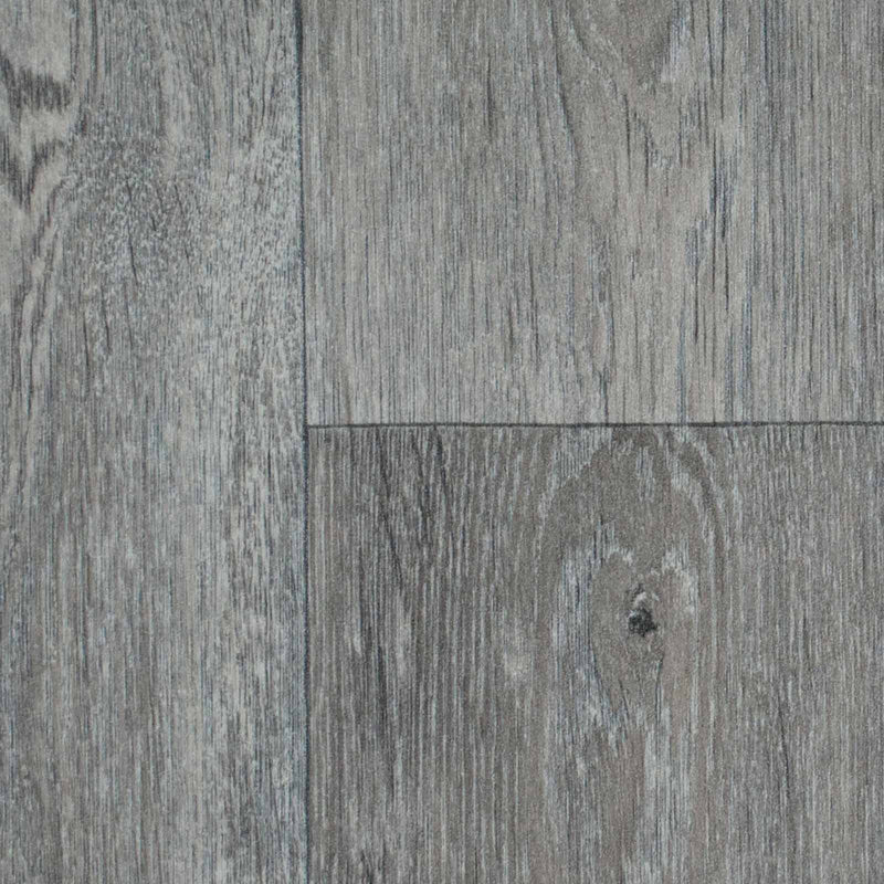 Warm Grey Aged Oak Wood Style Vinyl Flooring - Close