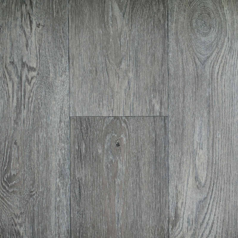 Warm Grey Aged Oak Wood Style Vinyl Flooring - Far