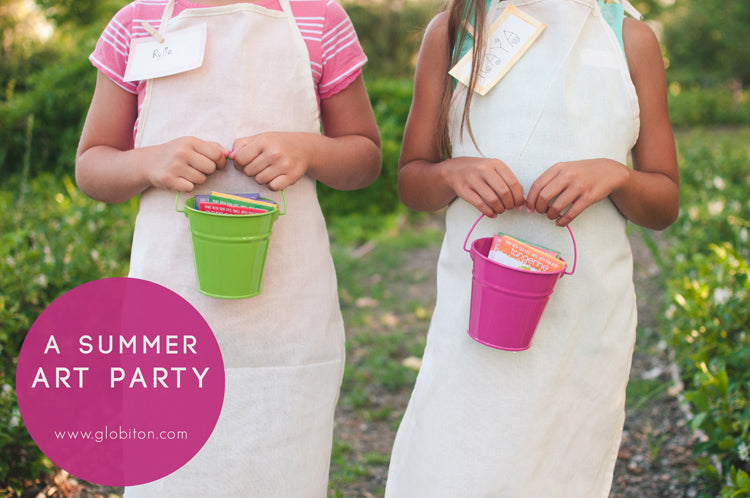 Natural, Eco-Friendly Summer Art Party & Face Paint Party