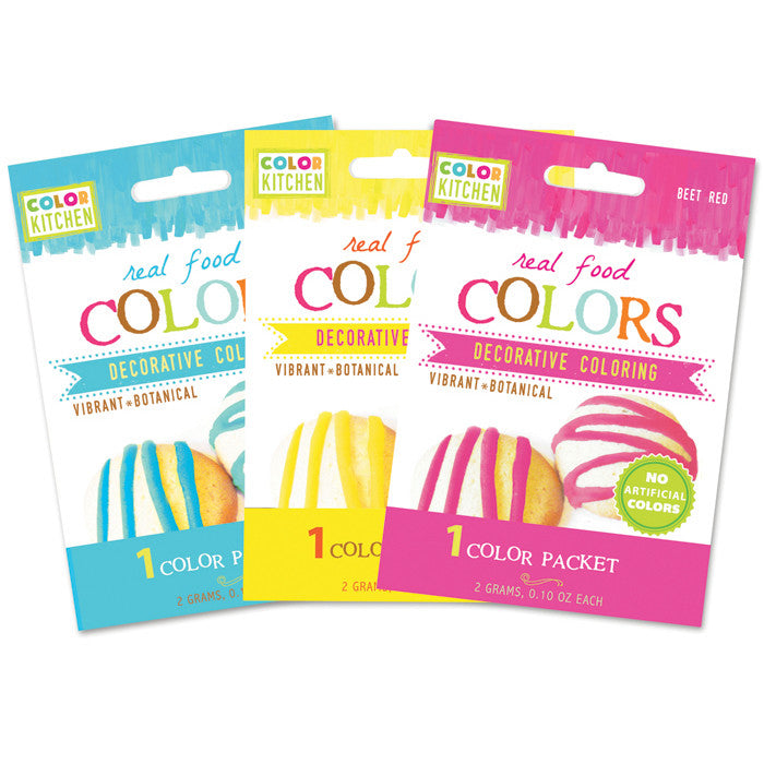 Single Food Color Packets by ColorKitchen