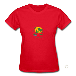 Gildan Ultra Cotton Ladies T-Shirt - red