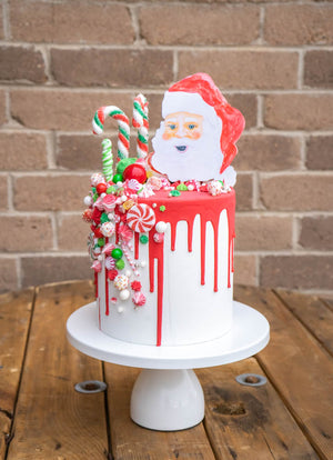 Holiday Candy Drip Cake