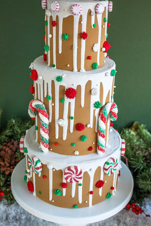 Ready to Ship Gingerbread Drip Cake
