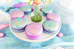 Mermaid Scale Macarons