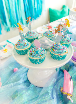 Mermaid Sprinkle Cupcakes