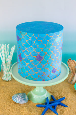 Mermaid Scales Cake