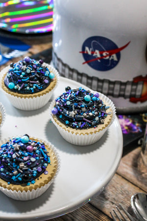 Ready To Ship Galaxy Sprinkle Cupcakes
