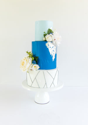 Partial Metal Leaf Cake