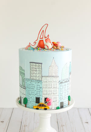 City/State Cake Topper