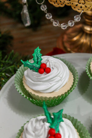 Holly Cupcakes