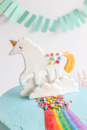 Ready to Ship Rainbow Unicorn Cake